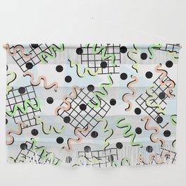 Retro Memphis 80's Disco Confetti Design Pattern Wall Hanging
