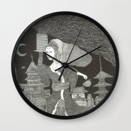 Tenzaru Girl Wall Clock