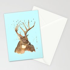 Ice Reindeer Stationery Cards