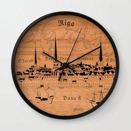 Riga 1544 (mahogany) Wall Clock