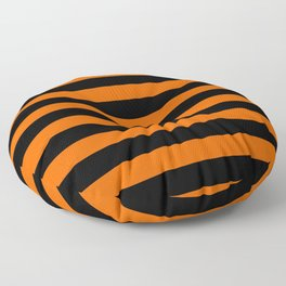 Black & Orange Stripes Floor Pillow