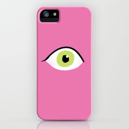 eye liner open iPhone Case