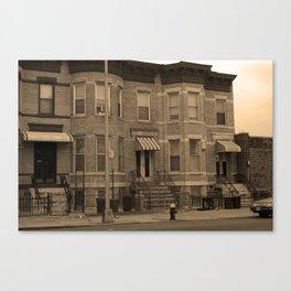Brooklyn House 2001 Sepia #3 Canvas Print