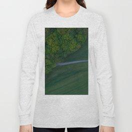 germany grass vertical view hattingen forrest drone green Long Sleeve T-shirt
