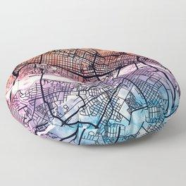 Richmond Virgina City Map Floor Pillow