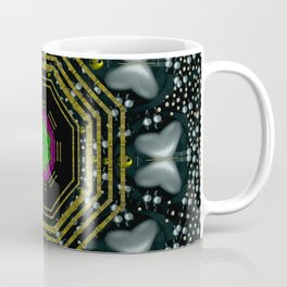 Leaf earth and heart butterflies in the universe pop art Coffee Mug