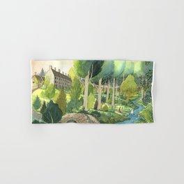 Painting By The Stream Hand & Bath Towel