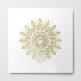The Golden Peacock Metal Print