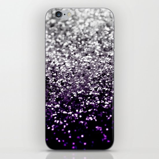 Dark Night Purple Black Silver Glitter #1 #shiny #decor #art #society6 by anitabellajantz
