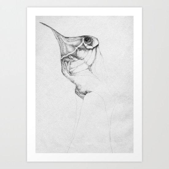 The wingless Art Print