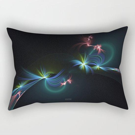 Fey Lights Fractal in Aurora 01 Rectangular Pillow