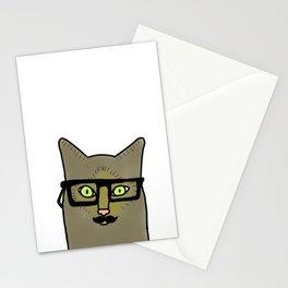 Professor Mustache Cat Stationery Cards
