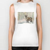 reindeer Biker Tanks featuring Reindeer by Meredith Mackworth-Praed
