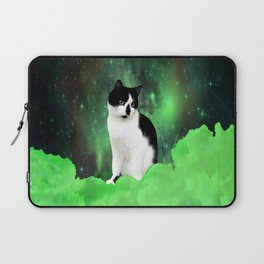 Gypsy Da Fleuky Cat and the Kitty Emerald Night Laptop Sleeve