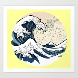 japan manga sea hokusai Art Print