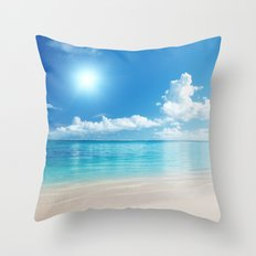 Sun & Sand Beach Throw Pillow