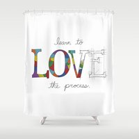 levi Shower Curtains featuring Learn To Love The Process by Levi Bethune