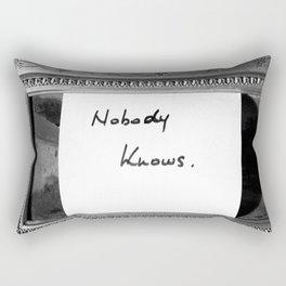 Nobody Knows Rectangular Pillow