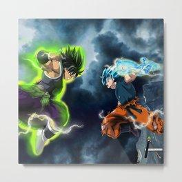 Goku vs Broly Metal Print