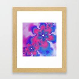 Fleurs Fête Fractal Framed Art Print