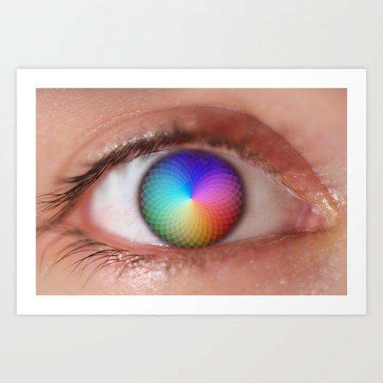 I see all the Colors - Geometric Pantone Eye Vision Art Print