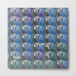 Floating Stairs Pattern Metal Print