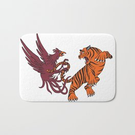 Cocks vs Tigers Bath Mat