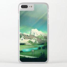Alpine Enchantment Clear iPhone Case