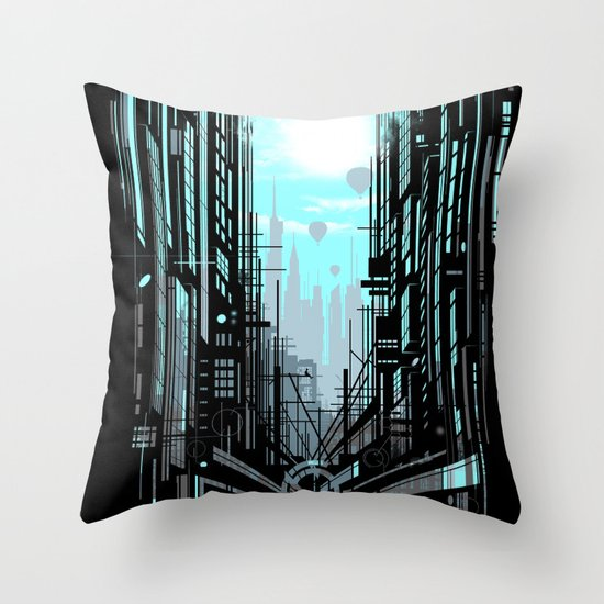 Urban Memories Throw Pillow