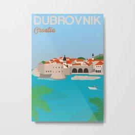 Dubrovnik Croatia Print Wall Art Poster Banner Home Bedroom Decor Artwork Gift for Him Her Metal Print