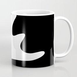 Splash - Black and White Abstract Coffee Mug
