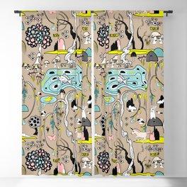 Magical Garden (Beige) Blackout Curtain