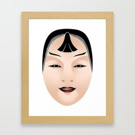 Japanese Mask - Kasshiki Framed Art Print