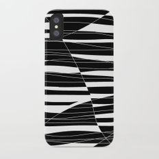 Carved Black and White Wave iPhone X Slim Case