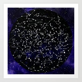 Celestial Map - Northern Hemisphere  Art Print