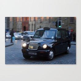 Royal Mile Cabby  Canvas Print