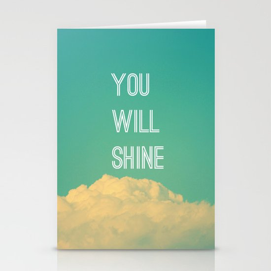 Baby, you will shine! Stationery Cards