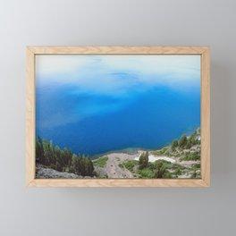 Crater Lake Cloud Reflection Framed Mini Art Print
