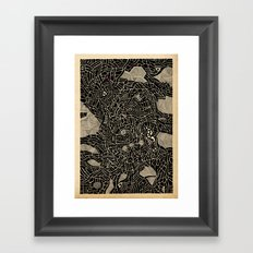 - pink dot burnt by the flow - Framed Art Print