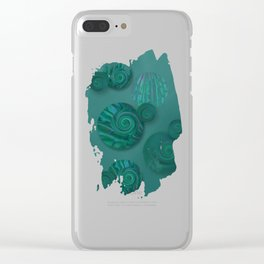 being in flux Clear iPhone Case