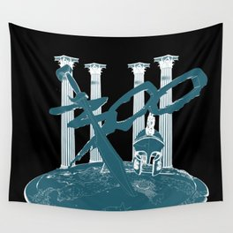 300 Blue and Black Wall Tapestry