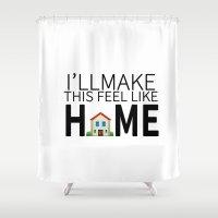 lyrics Shower Curtains featuring HOME LYRICS by Miya ♡