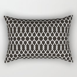 Black and White Shapes Geometric Pattern Rectangular Pillow