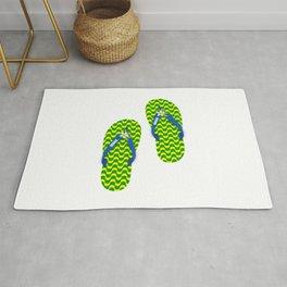 Brazilian flip flops Rug