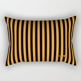 Halloween Stripes Orange and Black Rectangular Pillow