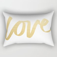 Love Gold White Type Rectangular Pillow
