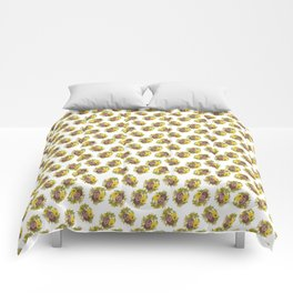 Butter Yellow Pansies Pattern Comforters