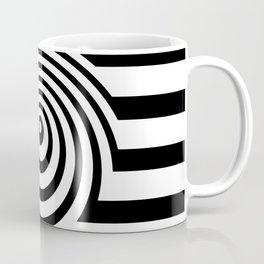 Black And White Op Art Graphic Coffee Mug