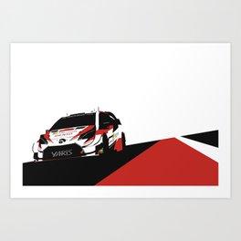 WRC Yaris Art Print