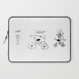 UX/UI Bike Sketch - User Experience Rocks Laptop Sleeve